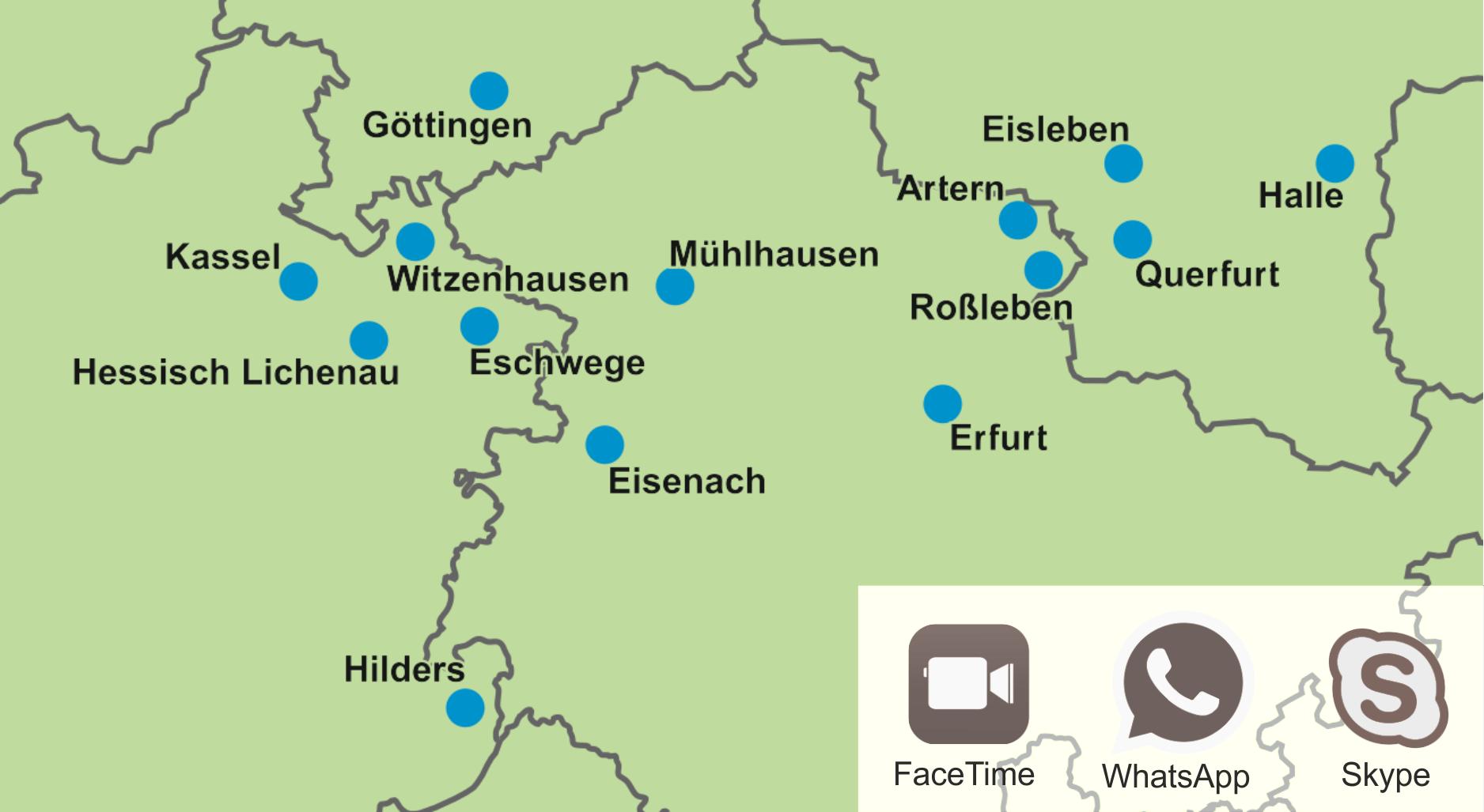 Karte - MPU-Beratung vor Ort -
